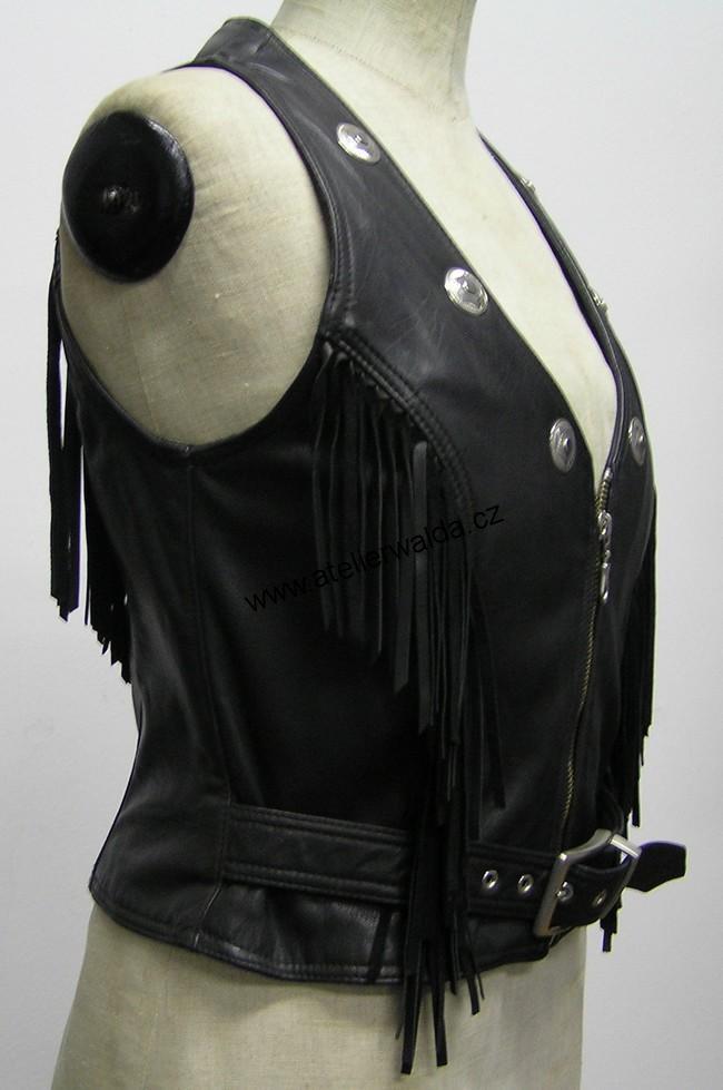 Chopper moto oblečení - kožená vesta 6285f3751c